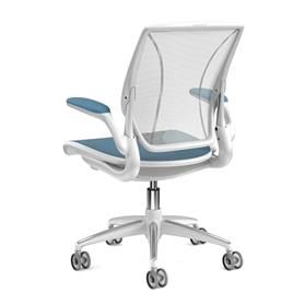 Humanscale Diffrient World Task Chair Blue and White Back
