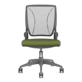 Humanscale Diffrient World Chair Grey and Green Front