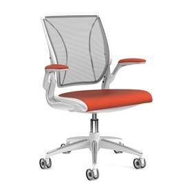 Humanscale Diffrient World Chair Orange and White Front