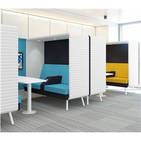 Elite Retreat Double Seating Booths in Office