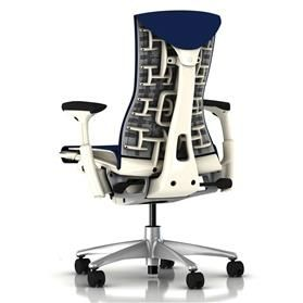 Herman Miller Embody White Berry Blue Rhythm Back