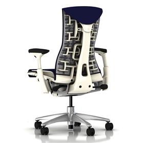 Herman Miller embody white twilight rhythm back