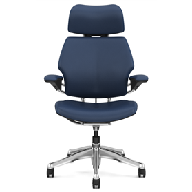 Humanscale Freedom with headrest blue leather