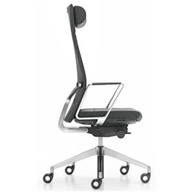 Girsberger Diagon Executive Leather Chair Side