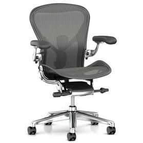 herman miller aeron carbon polished frame