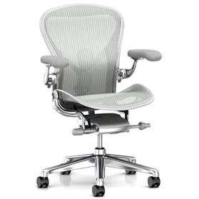 New Herman Miller Aeron Mineral with Polished Aluminium