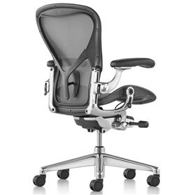 PRE ORDER New Herman Miller Aeron Remastered Polished Aluminium Size B (Medium)