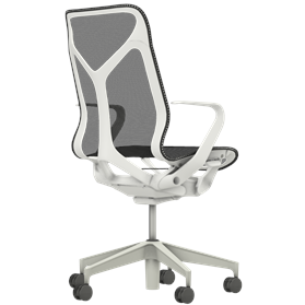Herman Miller Cosm mid back chair in studio white