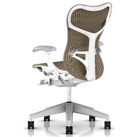 Herman Miller Cappuccino and White rear lumbar