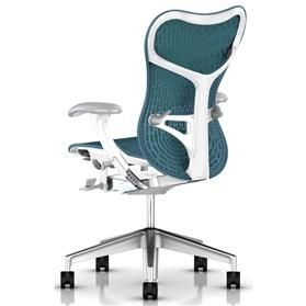 Herman Miller Mirra 2 Dark Turquoise White Semi-Polished Rear