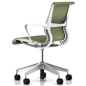 Herman Miller Setu Task Chair Chartreuse Back