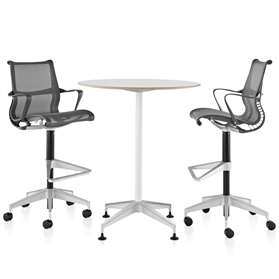 Herman Miller Setu stool with table