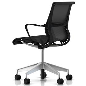 Herman Miller Setu Graphite with Silver Base Rear