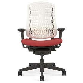Herman Miller White Celle with Upholstered Seat Cushion