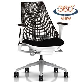 NEXT DAY DELIVERY! Herman Miller Sayl Office Chair, Black and White