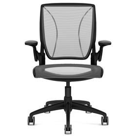 Humanscale Diffrient World Chair Pinstripe Black