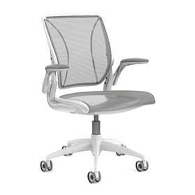 Humanscale Diffrient World Chair White Frame, Black Mesh