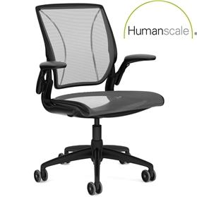 PRE ORDER! Humanscale Diffrient World Chair Black Edition, 15 Year Guarantee