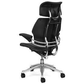 Humanscale Freedom Bizon leather chair rear