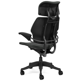 Humanscale Freedom Chair with Headrest Oxygen Revive Fabric Rear