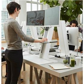 Humanscale QuickStand Heavy Mount For Two Monitors