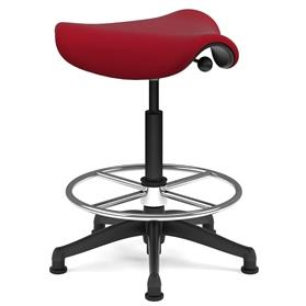 Humanscale Extra High Saddle Stool Red