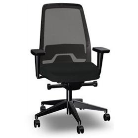 Interstuhl every 1 is jet black office chair