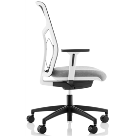 Komac Tauro Chair, Full Mesh Back, Chalk White