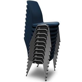 Komac Ice Fully Upholstered 4 Leg Chair (non-arm) stack