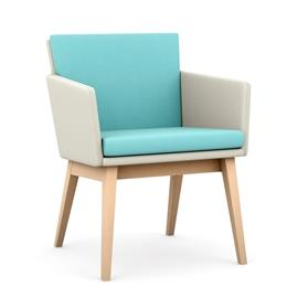 Lark Armchair with wooden legs