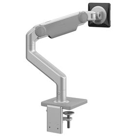 humanscale m8.1 monitor arm silver with grey trim