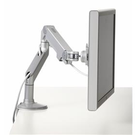 NEXT DAY DELIVERY! Humanscale M8 Adjustable Monitor Arm with Clamp, Silver