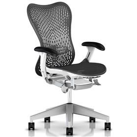 PRE ORDER! Herman Miller Mirra 2, TriFlex II Back, Graphite Edition with White Frame