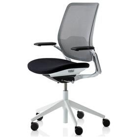 NEXT DAY DELIVERY! Orangebox Eva Office chair Black and White Executive Edition