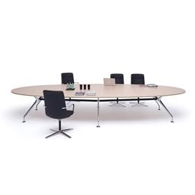 Orangebox Lano Oval Meeting Table, Chamfered Edge