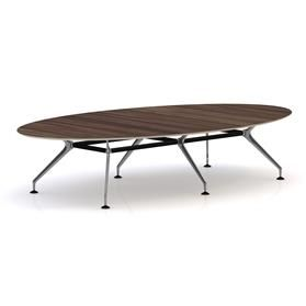 Orangebox Lano Oval Meeting Table Walnut