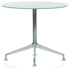 Orangebox Dune 800mm Round Glass Table
