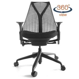 Herman Miller Sayl Standard All Black Chair Office Chairs Uk