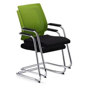 Sedus Black Dot Net Cantilever Visitor Chair Stacked
