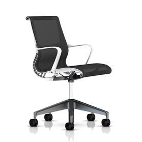 Herman Miller Setu, Graphite & White,Graphite Base