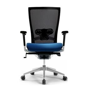 Techo Sidiz Mesh Office Chair in Black & Blue with Lumbar