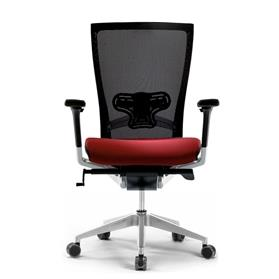 Techo Sidiz Mesh Office Chair in Black & Red with Lumbar