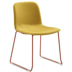 Verco Bethan sled frame chair with coloured frame