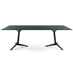 Viasit TRI Conference Table, Matt Black