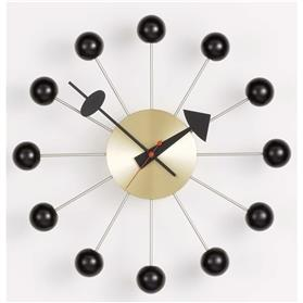 George Nelson Ball Clock, Black Brass