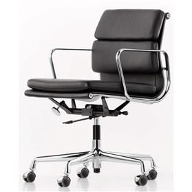 Vitra Eames Soft Pad Executive Leather Chair, Middle High Back - EA217