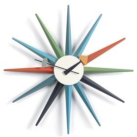 Vitra George Nelson Sunburst Clock Multi Coloured