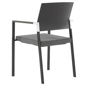 Senator Zenith Plastic Back Meeting Chair with Arms