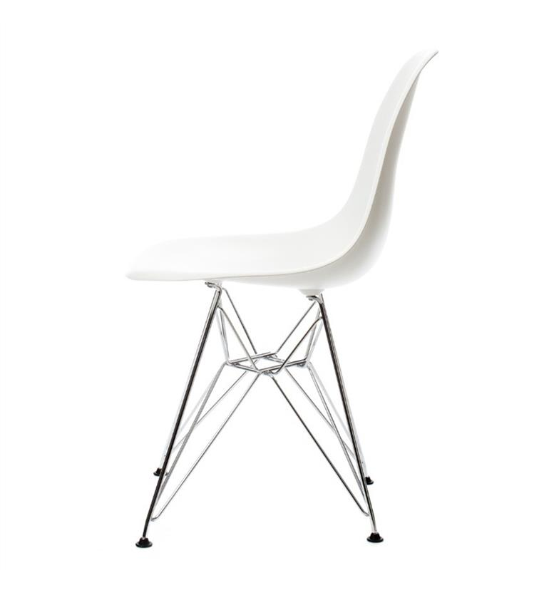 Vitra Eames DSR Plastic Side Chair, White 1-2 Day Free Delivery