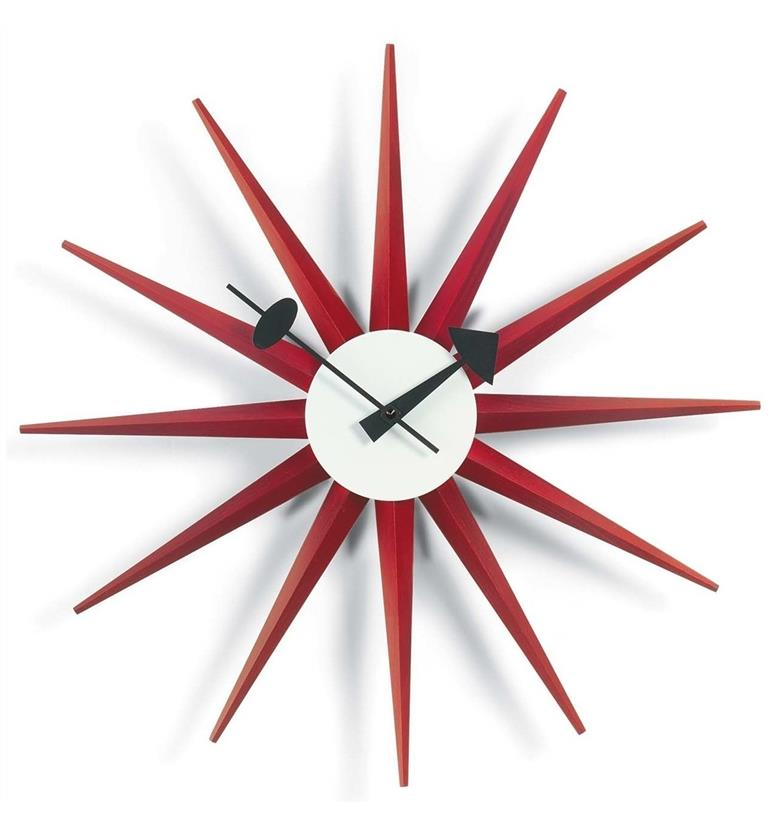 Vitra George Nelson Sunburst Clock Red